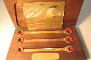 MAC TOOLS 50TH ANAVERSERY 1938-1988 GOLD PLATED WRENCHES WOOD BOX