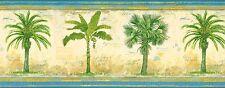 """PALM TREES-GREEN""-10 1/2""H-$9.00 PER ROLL-15' ROLLS-FREE S&H-"