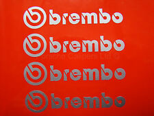 4x 105mm BREMBO SILVER BRAKE CALIPER DECALS, STICKERS