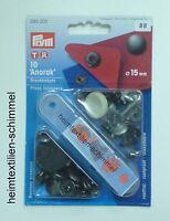 PRYM Anorak Druckknöpfe Druckknopf brüniert 15mm 390302