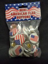 """(48) 1"""" USA American Flag Campaign Buttons Patriotic Pinback Political Lapel Pin"""