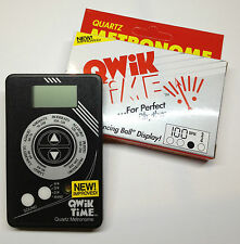 NEW QWIK TIME QT-5 ELECTRIC DIGITAL METRONOME SLIM DESIGN!!!