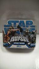 Star Wars Galáctica HEROES TARFFUL Y Comandante Gree Figuras Pack Hasbro 2008