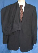 Men's 346 Brooks Brothers Suit Navy Striped Stretch Wool Blend Pleated Size 39R