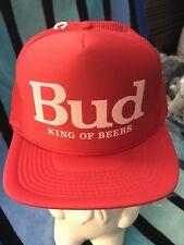NOS Vtg Red Bud Budweiser trucker hat snapback Nylon Mesh/Foam Cap Hat deadstock