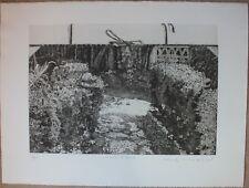 Chew WONG MOO - Gravure eau-forte signée numérotée Mon carton à dessin Malaisie*