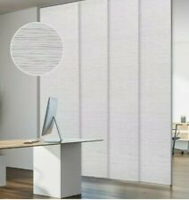 "GoDear Design Deluxe Adjustable Sliding Panel Track Blind 45.8""- 86"" W x 96"" H"