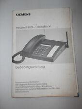 Bedienungsanleitug Buch für Simens megaset 950
