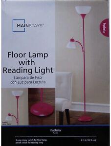 Floor Lamp with Reading Light Fuchsia