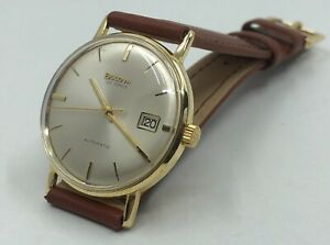 Vintage 18k 18ct Solid Gold Bulova Mens Automatic Watch