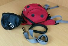 Little Life Toddlers Backpack harness and safety reign Ladybird day bag hooded