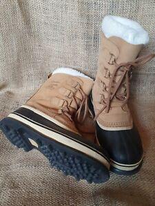 Sorel Caribou PAC boots, Snow Boots, Winter, Apres Ski -40c Size 6 UK HALF PRICE