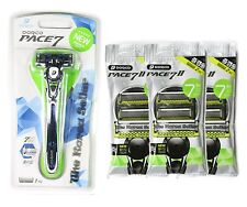 NEW Dorco Pace 7 World's First Seven Blade System -1 Razor + 6 Refill Cartridges
