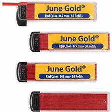 June Gold 240 Red Colored Lead Refills 0.9mm Bold Thickness Convenient Dispenser