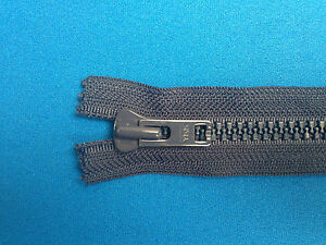 """ZIP CLOSED ENDED YKK NAVY 40CM 15.5"""" 8 WEIGHT METAL SLIDER CHUNKY HEAVY DUTY"""