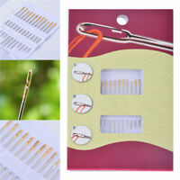 12Pcs Thick Big Eye Sewing Self-Threading Needles Set Embroidery Hand Sewing Set