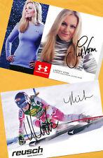 Lindsey vonn-Mikaela shiffrin - 2 ak imágenes (3) - Print copies + ak firmado