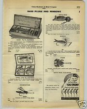 1930 PAPER AD Heddon Fishing Lure Six First Choice Box Tuttle Devil Mouse S Bend