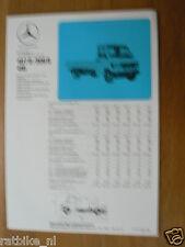 MERCEDES-BENZ  407D / 409D / 410 CHASSIS BROCHURE FOLDER PROSPEKT 1982 CC02
