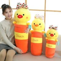 50/70/85cm Animal Stuffed Dolls Soft Plush Toys Long Pillow Yellow Duck Cushion