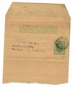 Cape of Good Hope Half Penny Newspaper Wrapper 1907 Kimberly