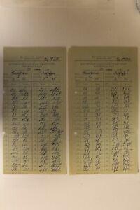 2 Soviet Chess Score Sheets Belyavsky-Alburt. Daugavpils 1974