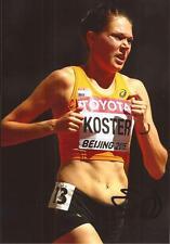 Atletismo: Maureen Koster firmado 6x4 foto de acción + certificado De Autenticidad * Rio 2016 * * Países Bajos *
