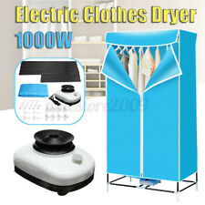 Blue Portable Home Energy-saving Drying Rotary Switch Electric Air Clothes 1000W