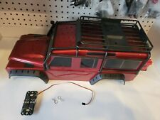 Traxxas TRX-4 Land Rover Defender Red Body w/ Exo Cage Rack  & Spare tire!