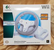 Logitech Speed Force Wireless Racing Wheel For Nintendo WII 941-000040