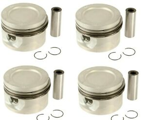 For Volvo 740 760 940 85-95 Set of 4 Engine Piston w/ Rings Mahle 271328/376702