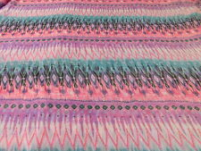 Green, Purple, Pink And Turquoise Chiffon Fabric         SOLD BY THE YARD