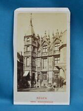 1870/80s CDV France Carte De Visite Photo Rouen Hotel Bourgtherould