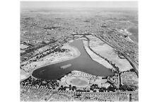 South Melbourne ALBERT PARK LAKE 2nd aerial view 1953 modern digital Postcard