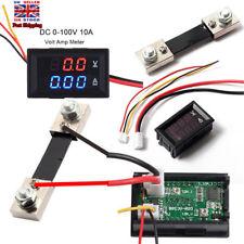 DC 100V 10A Voltmeter Ammeter LED Dual Digital Volt Amp Meter Gauge UK Stock