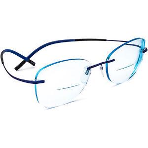 Silhouette Eyeglasses 5397 40 6076 7581 Titan Blue Rimless Austria 53[]19 145