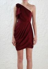 Zimmermann Bow Bodice Dress Burgundy Size 0 RRP$550