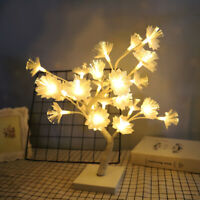 1pc Night Lamp Flower Decor Tree Shaped Night Light Table Lamp for Party Wedding