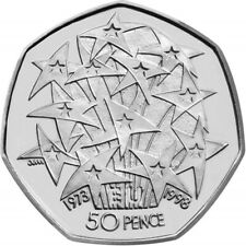 European Union 50p Circulated, Excellent