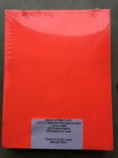 "250 Sheets 8.5x11"" Majestick Fluorescent Red Self-Adhesive Full Page Label"
