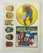 VECCHIO ADESIVO / Old Sticker UOMO RAGNO SPIDERMAN CAPITAN AMERICA (cm 17x12)