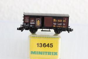 N MINITRIX 13645 Bananenwagen GÜTERWAGEN boxcar OVP J55