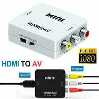Full HD HDMI zu AV Cinch Konverter HDMI CVBS Cinch Adapter Signal Konvertierer