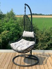 More details for hanging cocoon egg chair garden swing hammock removable luxury cushions !!!