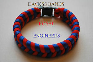 Royal Engineers Corps Paracord Wristband 10% donation to Help For Hero's