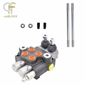 2 Spool Hydraulic Control Valve Double Acting 13 GPM 3600 PSI SAE Ports