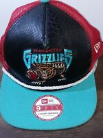 Vancouver Grizzlies 9FiFty New Era NBA SNAKE FRONT SNAPBACK Mesh Cap Hat NWOT
