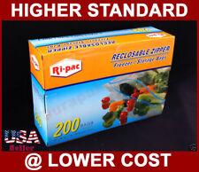 "200~ 10-9/16x11"" Zip bags lock  Zipper Reclosable Freezer Storage 1 Gallon Bag"