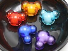 "25 Mixed Color Acrylic Mouse Face Chunky Beads 22X18mm ""Bead in Bead"""