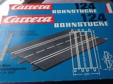 Carrera 1/24 Slot Racing Track, 4 X Straight Sections, Boxed
